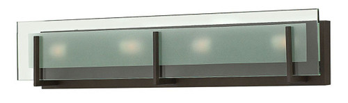 Hinkley Bath Latitude Collection Four Light Vanity in Oil Rubbed Bronze, 5654OZ