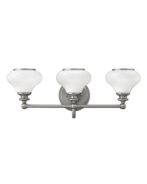 Hinkley Bath Ainsley Collection Three Light Vanity in Brushed Nickel, 56553BN