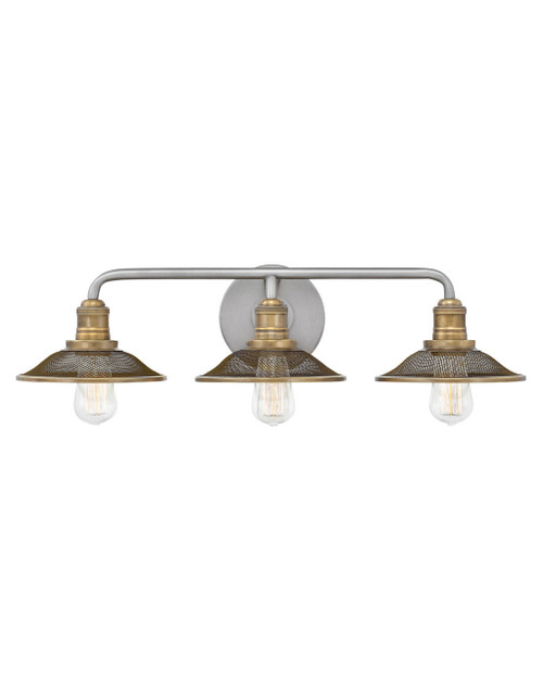 Hinkley Bath Rigby Collection Three Light Vanity in Antique Nickel, 5293AN