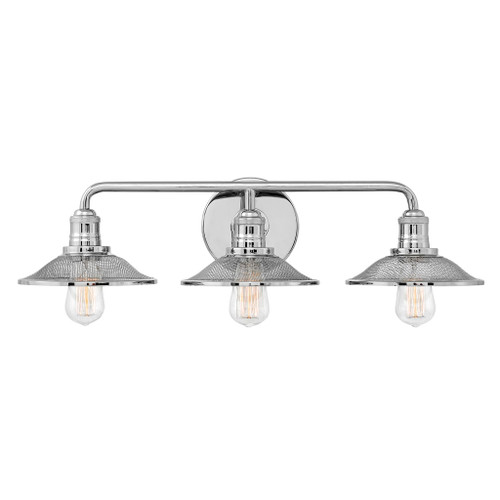 Hinkley Bath Rigby Collection Three Light Vanity in Polished Nickel, 5293PN