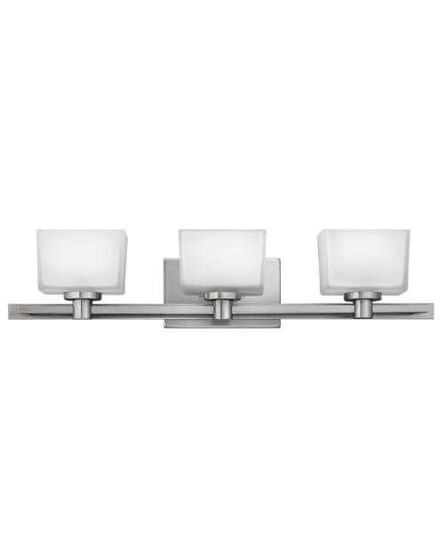Hinkley Bath Taylor Collection Three Light Vanity in Brushed Nickel, 5023BN