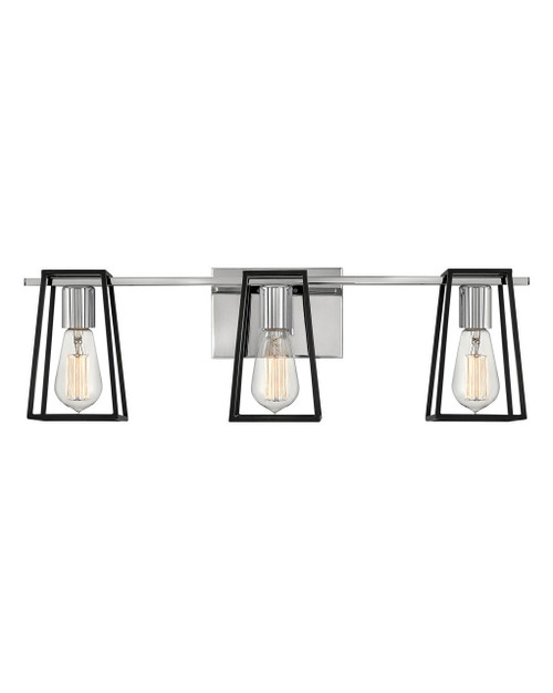 Hinkley Bath Filmore Collection Three Lights Vanity in Chrome, 5163CM