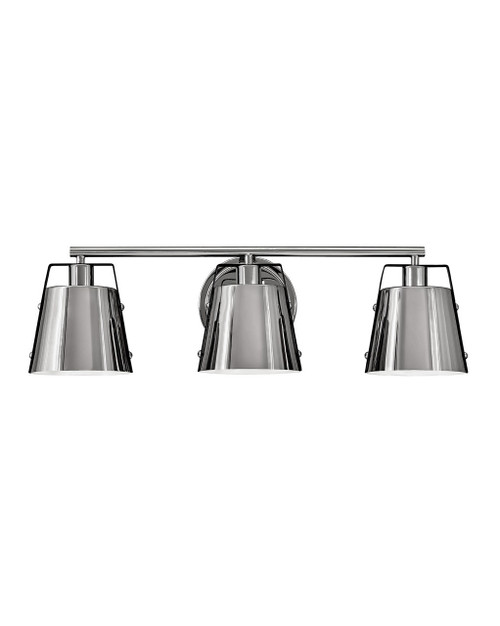 Hinkley Bath Cartwright Collection Three Light Vanity in Polished Nickel, 5983PN