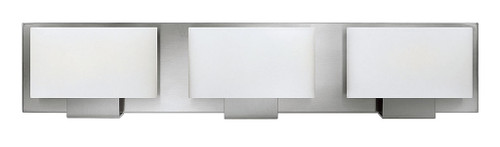 Hinkley Bath Mila Collection Three Light Vanity in Brushed Nickel, 53553BN-LED