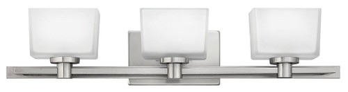 Hinkley Bath Taylor Collection Three Light Vanity in Brushed Nickel, 5023BN-LED
