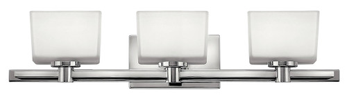 Hinkley Bath Taylor Collection Three Light Vanity in Chrome, 5023CM-LED