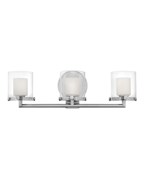 Hinkley Bath Rixon Collection Three Light Vanity in Chrome, 5493CM