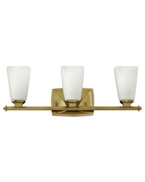 Hinkley Bath Darby Collection Three Light Vanity in Brushed Caramel, 53013BC