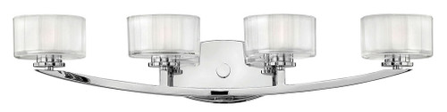 Hinkley Bath Meridian Collection Four Light Vanity in Chrome, 5594CM