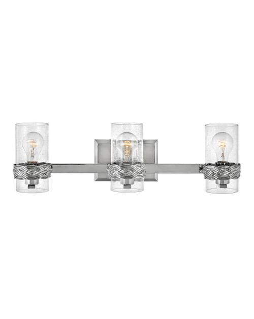 Hinkley Bath Nevis Collection Three Light Vanity in Polished Nickel, 5513PN