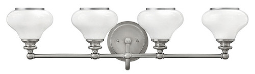 Hinkley Bath Ainsley Collection Four Light Vanity in Brushed Nickel, 56554BN