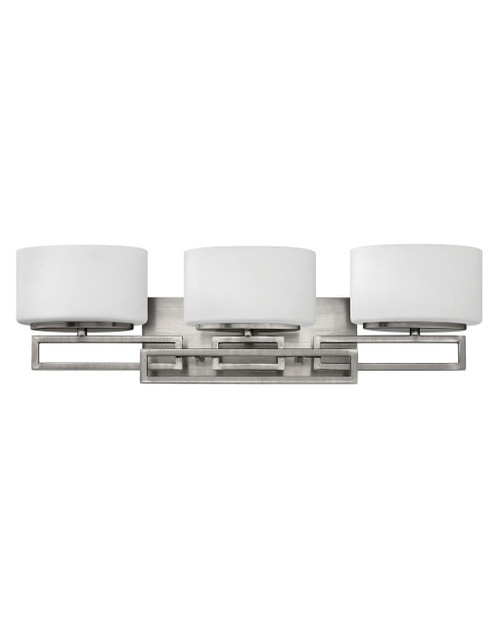 Hinkley Bath Lanza Collection Three Light Vanity in Antique Nickel, 5103AN