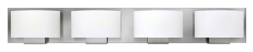 Hinkley Bath Mila Collection Four Light Vanity in Brushed Nickel, 53554BN