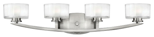 Hinkley Bath Meridian Collection Four Light Vanity in Brushed Nickel, 5594BN-LED