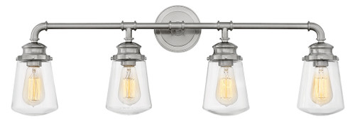 Hinkley Bath Fritz Collection Four Light Vanity in Brushed Nickel, 5034BN