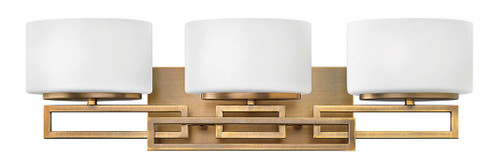 Hinkley Bath Lanza Collection Three Light Vanity in Brushed Bronze, 5103BR-LED