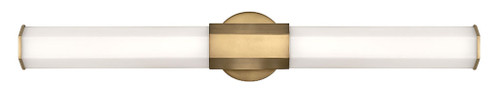 Hinkley Bath Facet Collection Large LED Vanity in Heritage Brass, 51153HB