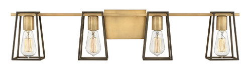Hinkley Bath Filmore Collection Four Light Vanity in Heritage Brass, 5164HB