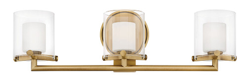 Hinkley Bath Rixon Collection Three Light Vanity in Heritage Brass, 5493HB-LL