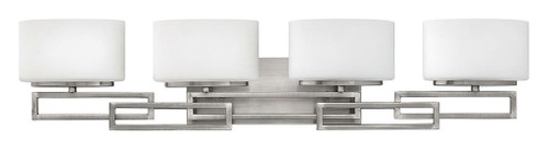 Hinkley Bath Lanza Collection Four Light Vanity in Antique Nickel, 5104AN