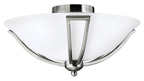 Hinkley Bath Bolla Collection Small Flush Mount in Brushed Nickel, 4660BN-LED