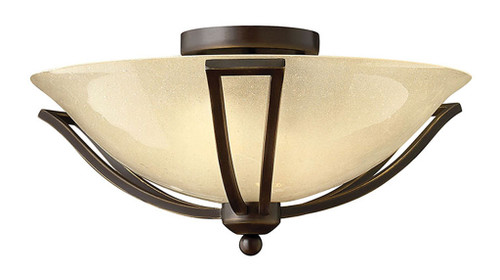 Hinkley Bath Bolla Collection Small Flush Mount in Olde Bronze, 4660OB-LED