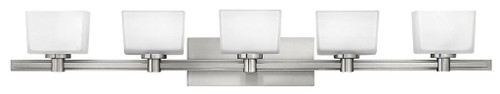 Hinkley Bath Taylor Collection Five Light Vanity in Brushed Nickel, 5025BN