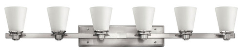 Hinkley Bath Avon Collection Six Light Vanity in Brushed Nickel, 5556BN