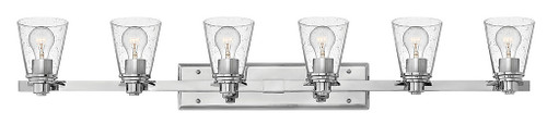 Hinkley Bath Avon Collection Six Light Vanity in Chrome with Clear glass, 5556CM-CL