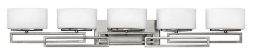 Hinkley Bath Lanza Collection Five Light Vanity in Antique Nickel, 5105AN