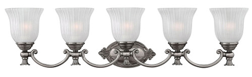Hinkley Bath Francoise Collection Five Light Vanity in Polished Antique Nickel, 5585PL