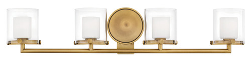 Hinkley Bath Rixon Collection Four Light Vanity in Heritage Brass, 5494HB-LL