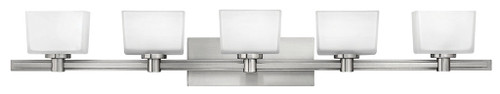Hinkley Bath Taylor Collection Five Light Vanity in Brushed Nickel, 5025BN-LED