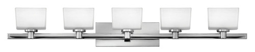 Hinkley Bath Taylor Collection Five Light Vanity in Chrome, 5025CM-LED