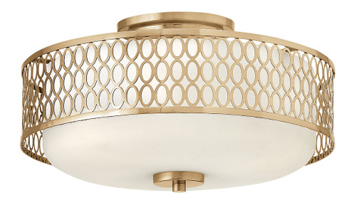 Hinkley Foyer Jules Collection Medium Semi-Flush Mount in Brushed Gold, FR35601BRG