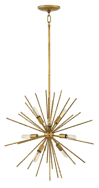 Hinkley Chandelier Tryst Collection Small Orb in Burnished Gold, FR43014BNG