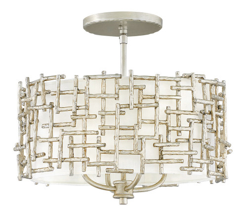 Hinkley Foyer Farrah Collection Small Drum Pendant in Silver Leaf*, FR33103SLF