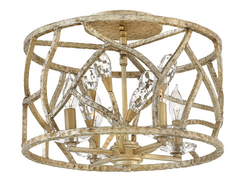 Hinkley Foyer Eve Collection Medium Flush Mount in Champagne Gold, FR46801CPG
