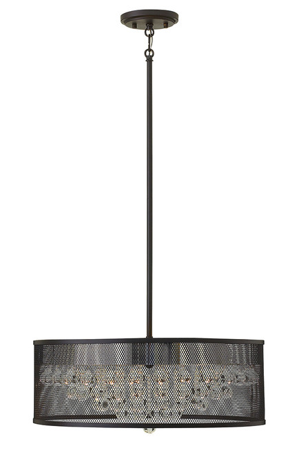 Hinkley Foyer Fiona Collection Small Drum in Black*, FR38904BLK