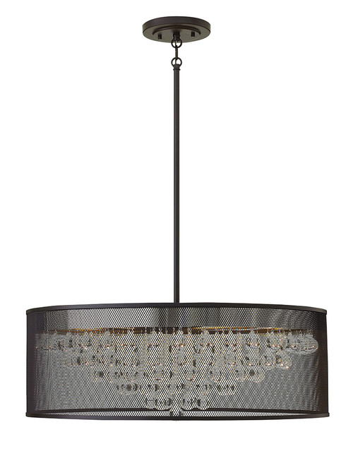 Hinkley Foyer Fiona Collection Large Drum in Black*, FR38906BLK