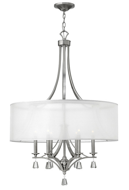 Hinkley Foyer Mime Collection Large Drum in Brushed Nickel*, FR45608BNI