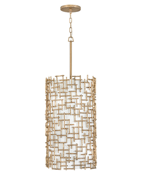 Hinkley Foyer Farrah Collection Large Drum in Burnished Gold, FR33108BNG