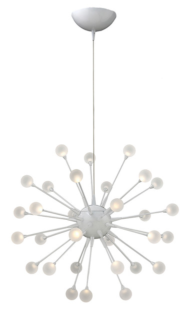 Hinkley Chandelier Impulse Collection Large Orb in Cloud, FR44413CLD