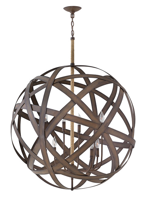 Hinkley Chandelier Carson Collection Large Two Tier Orb in Vintage Iron, FR40708VIR