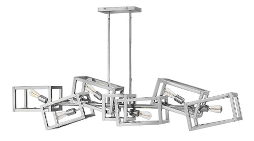 Hinkley Chandelier Ensemble Collection Six Light Linear in Polished Nickel*, FR42446PNI