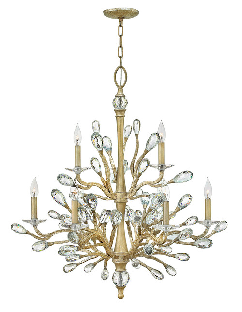 Hinkley Chandelier Eve Collection Large Two Tier  in Champagne Gold, FR46809CPG