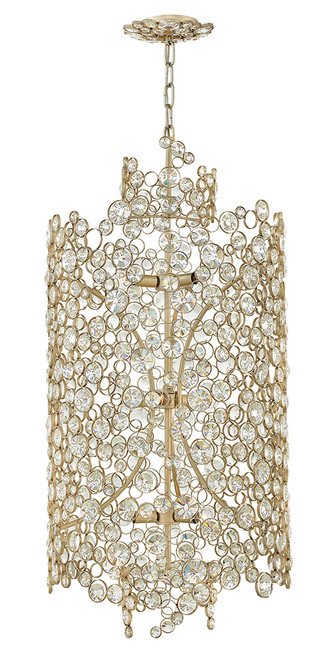 Hinkley Chandelier Anya Collection Large Three Tier Drum in Silver Leaf*, FR44819SLF
