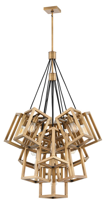 Hinkley Chandelier Ensemble Collection Large Multi Tier in Brushed Bronze*, FR42449BBZ