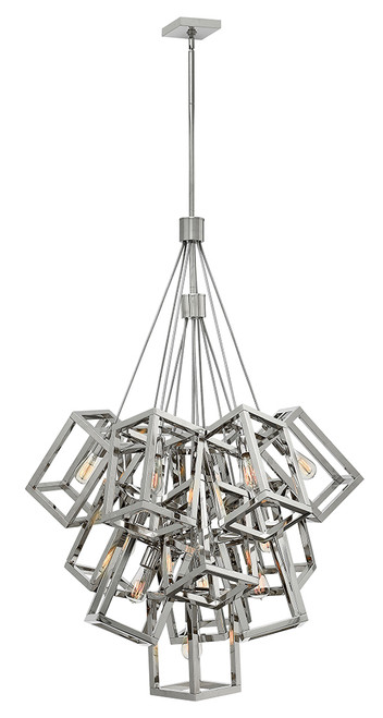 Hinkley Foyer Ensemble Collection Large Multi Tier in Polished Nickel*, FR42449PNI