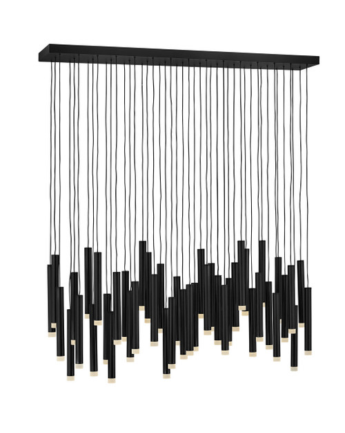 Hinkley Chandelier Harmony Collection Large LED Linear in Black*, FR49909BLK